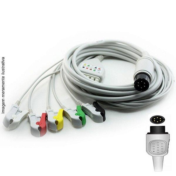 Cabo Paciente 5 Vias Compatível com BCI / BURDICK Tipo Neo Pinch Solda - Vepex
