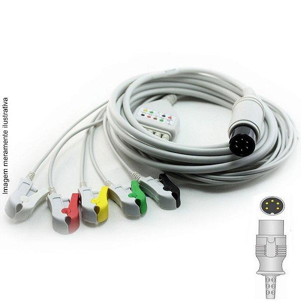 Cabo Paciente 5 Vias Compatível com ANAMED Tipo Neo Pinch Encaixe EPX-C502-N - Vepex