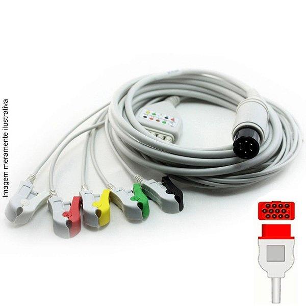 Cabo Paciente 5 Vias Compatível com Bionet Tipo Neo Pinch Solda EPX-C508-NS - Vepex
