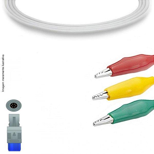 Cabo Paciente 3 Vias Compatível com BIOSYS Tipo Garra Jacaré Solda EPX-C309-JS - Vepex