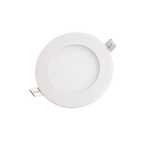 Plafon Led 6W de Embutir Slim Redondo Ø12cm Completo - Luz Branca Fria e Quente