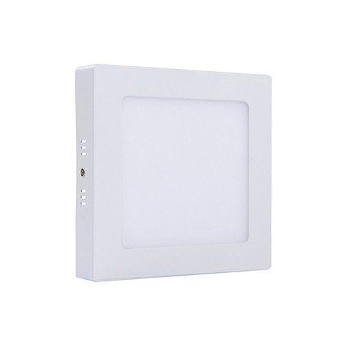 Plafon Led 12W de Sobrepor Slim Quadrado 17x17cm Completo - Luz Branca Fria, Neutra e Quente