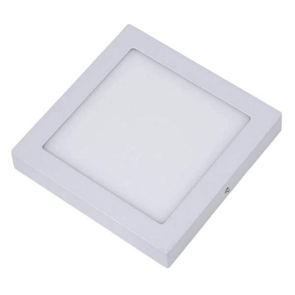 Plafon Led 18W de Sobrepor Slim Quadrado 22x22cm Completo - Luz Branca Fria, Neutra e Quente