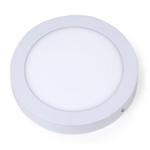 Plafon Led 18W de Sobrepor Slim Redondo Ø22cm Completo - Luz Branca Fria e Quente