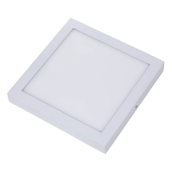Plafon Led 24W de Sobrepor Slim Quadrado 30x30cm Completo - Luz Branca Fria, Neutra e Quente
