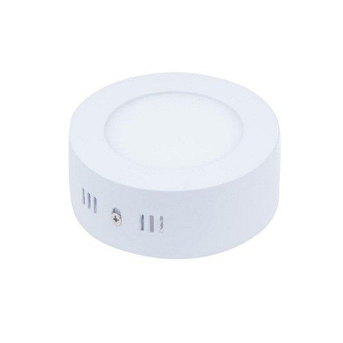 Plafon Led 6W de Sobrepor Slim Redondo Ø12cm Completo - Luz Branca Fria e Quente