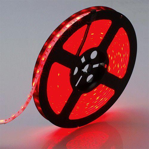 Fita Led 5050 14,4W/M com Silicone Uso Externo IP65 - Rolo 5 Metros - Luz Vermelha