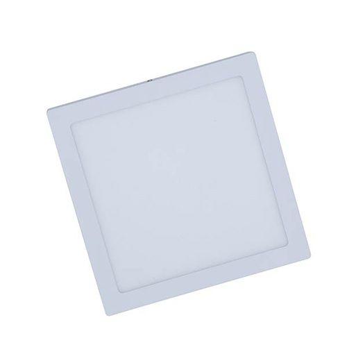 Plafon Led 60W de Sobrepor Slim Quadrado 55x55cm - Luz Branca Fria e Quente