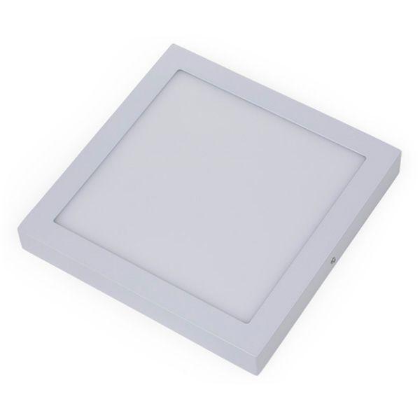 Plafon Led 30W de Sobrepor Slim Quadrado 30x30cm Completo - Luz Branca Fria