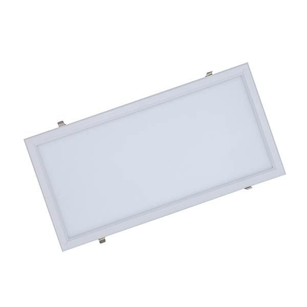 Luminária Led 30W de Embutir Slim Retangular 30x60cm Completa - Luz Branca Fria e Quente