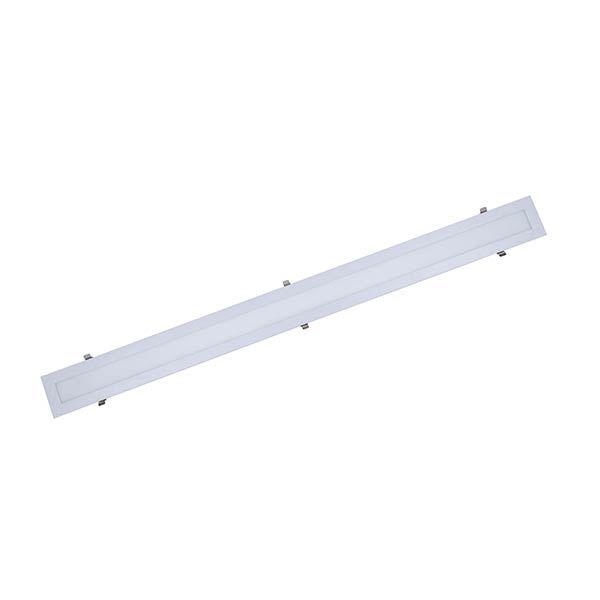 Luminária Led 30W de Embutir Slim Retangular 10x120cm Completa - Luz Branca Fria e Quente