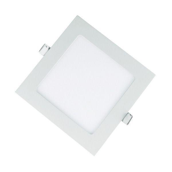 Plafon Led 15W de Embutir Slim Quadrado 20x20cm Completo - Luz Branca Fria e Quente