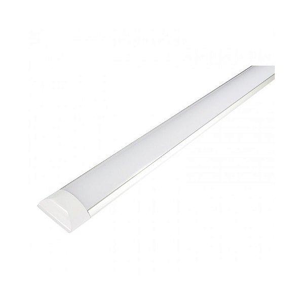 Luminária Led 18W de Sobrepor Multiuso 60cm Retangular Completa - Luz Branca Fria e Quente