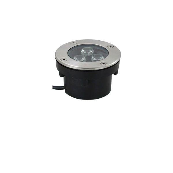 Spot Led Embutido de Solo 3W Redondo IP67 - Luz Branca Fria e Quente