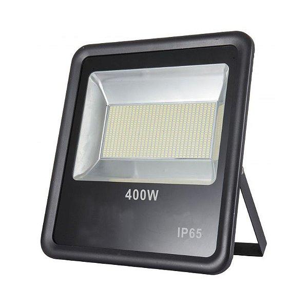 Refletor Led 400W SMD Slim Preto IP65 - Luz Branca Fria