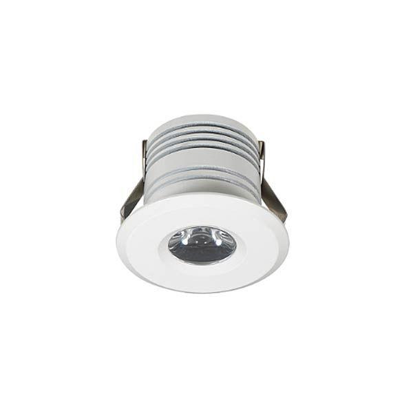 Mini Spot Led 1W de Embutir Redondo Ø3,2cm - Luz Branca Fria e Quente - Aro Branco