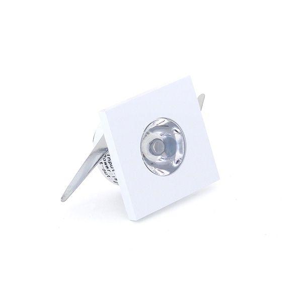 Mini Spot Led 1W de Embutir Quadrado 3,2x3,2cm - Luz Branca Fria e Quente - Aro Branco