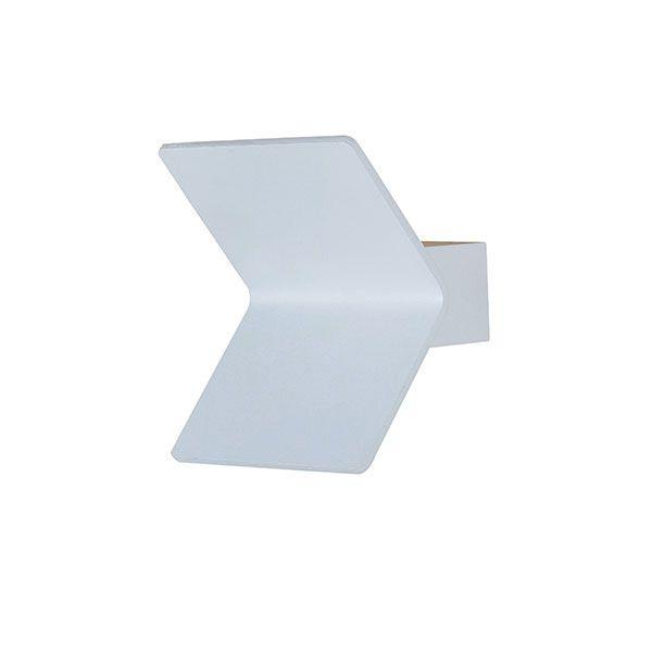 Arandela Led Alumínio Curvado 2x3,0W uso Interno e Externo IP65 - Cor Branca