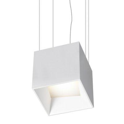 Pendente Led 9W Alumínio Cor Branca 10,5x10,5cm - Luz Branca Quente