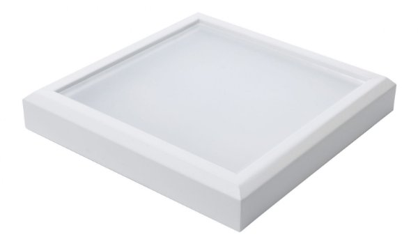 Plafon Led 18W de Sobrepor Quadrado 25x25cm Completo - Luz Branca Fria, Neutra e Quente