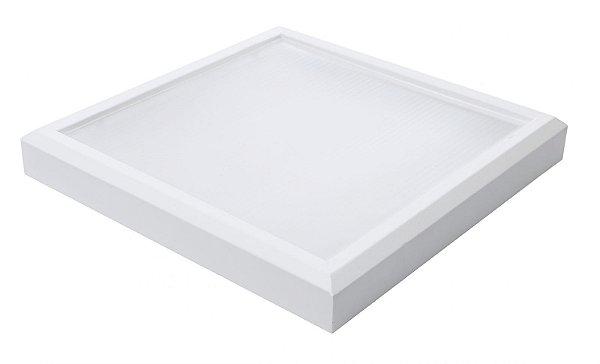 Plafon Led 25W de Sobrepor Quadrado 30x30cm Completo - Luz Branca Fria, Neutra e Quente