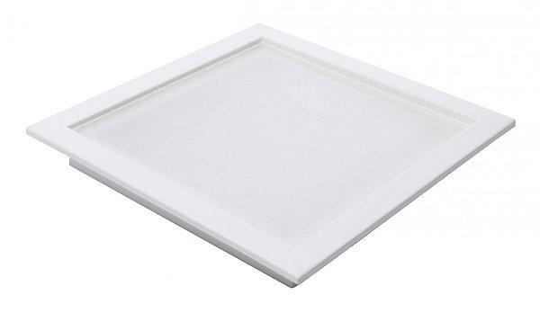 Plafon Led 18W de Embutir Quadrado 25x25cm Completo - Luz Branca Fria e Neutra
