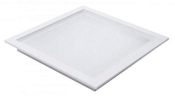 Plafon Led 25W de Embutir Quadrado 30x30cm Completo - Luz Branca Fria e Neutra