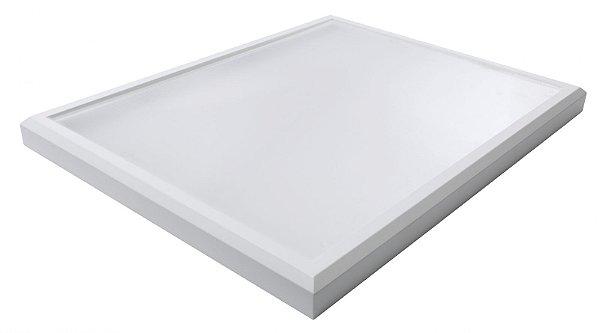 Luminária Led 102W de Sobrepor Retangular 45x60cm Completa - Luz Branca Fria, Neutra e Quente