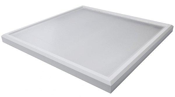 Luminária Led 102W de Sobrepor Quadrada 60x60cm Completa - Luz Branca Fria, Neutra e Quente