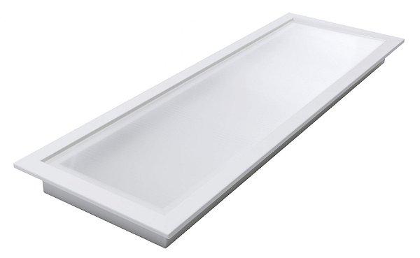 Luminária Led 34W de Embutir Retangular 20x62cm Completa - Luz Branca Fria, Neutra e Quente