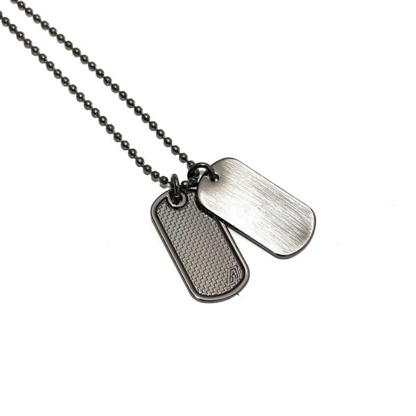 Colar Corrente Masculina Dog Tag Duo