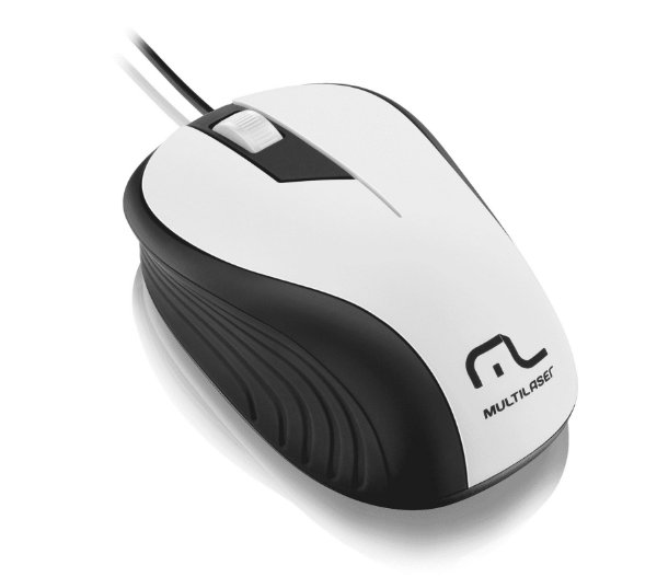 Mouse Multilaser Emborrachado Usb 1200Dpi - MO224