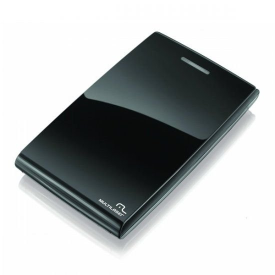 Case Externo Multilaser Para Hd 2.5 Pol. Sata Black Piano - GA077