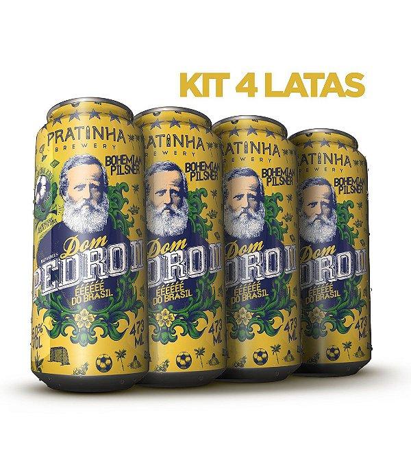Dom Pedro II Lata 473ml - Combo Promocional - Edição colecionável de futebol - Ed. Limitada.