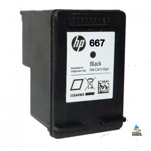 RECARGA DE CARTUCHO DE TINTA HP 667 BLACK,IMPRESSORA,2376,2776,6476