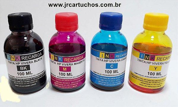REFIL DE TINTA   PARA RECARGA  DE CARTUCHOS HP 662,664,122,60,21,22 100ML