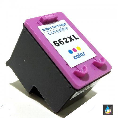 CARTUCHO  HP 662XL COMPATÍVEL COLOR 12 ML RECARREGAVEL HP 2515 , 2516, 3515