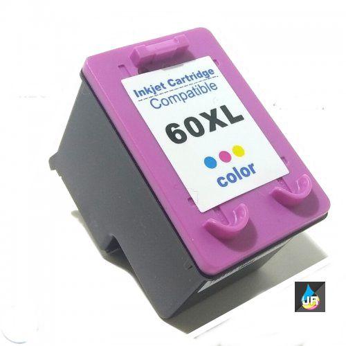 CARTUCHO COMPATÍVEL HP 60XL COLOR  12ml , CC644WB , F4480 ,F4580 F4280 ,D1660