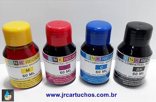 Refil de Tinta BT5001C Brother,DCP-T300, DCP-T500W, MFC-T800W e DCP-T700W. 60ml