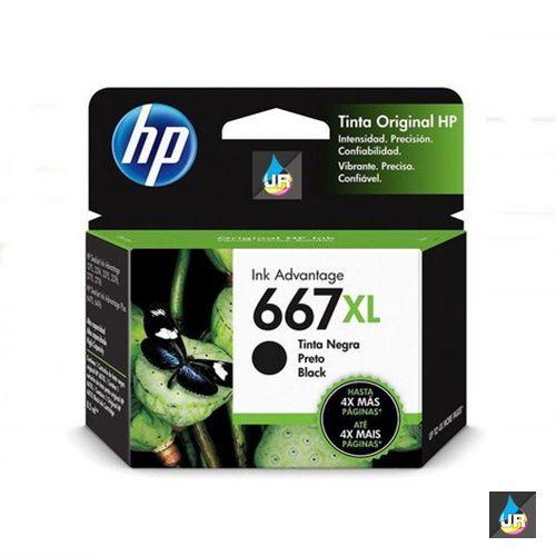 CARTUCHO DE TINTA HP 667XL PRETO ORIGINAL 3YM81L   IMPRESSORA  2376,2776,6476