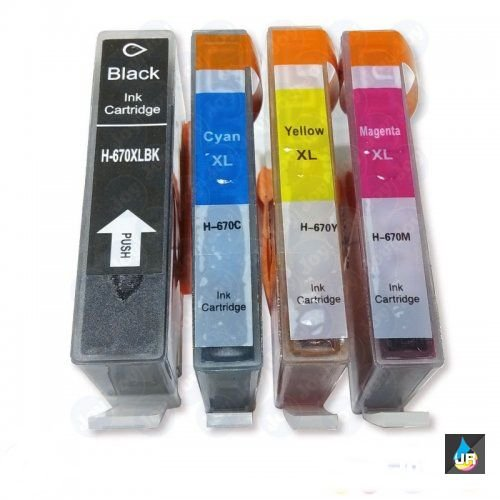 Cartucho de tinta Compatível com HP 670xl ,3525,4515,4625,cores