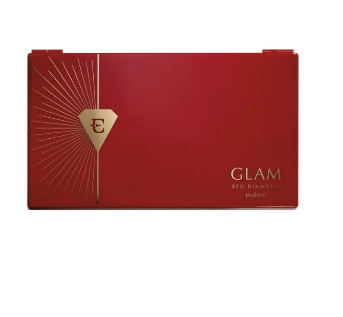 Eudora Glam Palette Multifuncional Red Diamond - Paleta de Maquiagem 30g