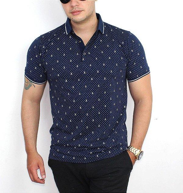 Camisa Polo Masculina Azul Marinho - Socialmens - Socialmens ... fd0151cf9805f