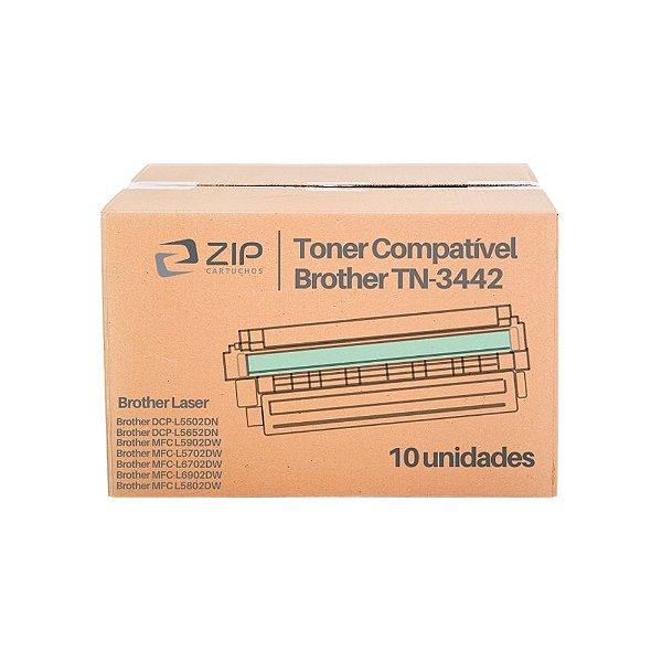 Kit de Toner Brother DCP-L5652dn | TN-3442 Preto Compatível 10un