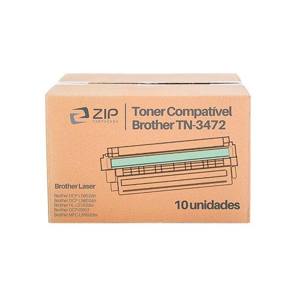 Kit de Toner Brother MFC-L6902DW   TN-3472 Preto Compatível 10un