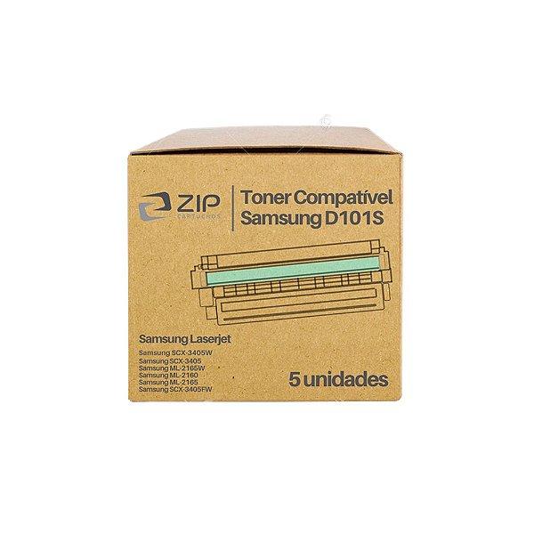 Kit de Toner Samsung SCX-3405W   2165   MLT-D101S Preto Compatível 5un