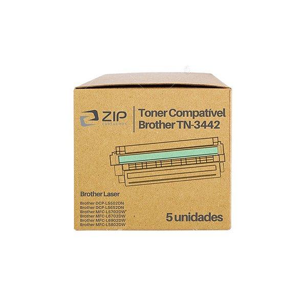 Kit de Toner Brother DCP-L5652dn   TN-3442 Preto Compatível 5un