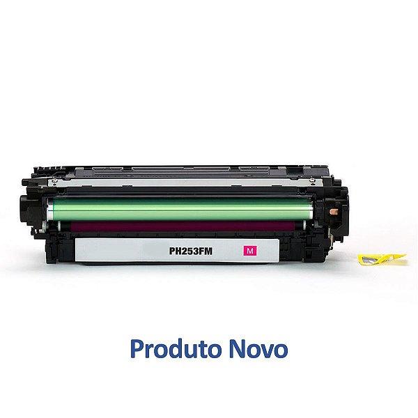 Toner HP CM3530   CP3525dn   CE253A LaserJet Magenta Compatível