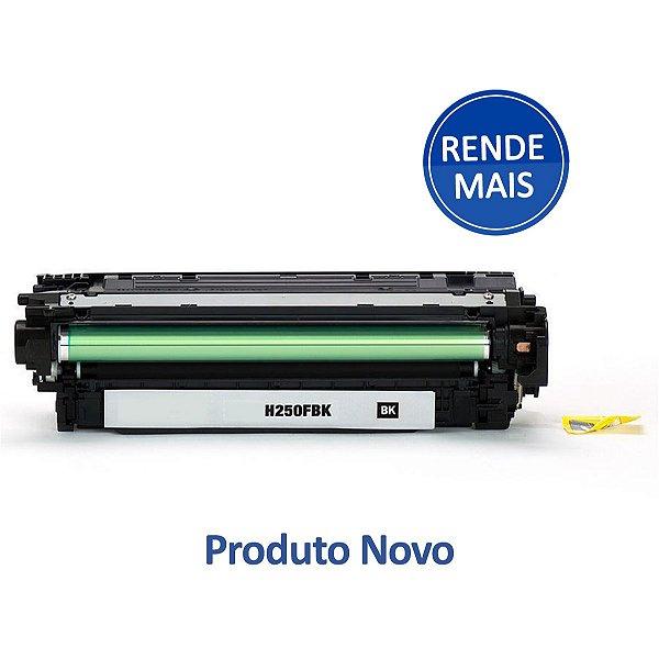 Toner HP CE250X | CM3530 | CP3525 | 250X LaserJet Preto Compatível