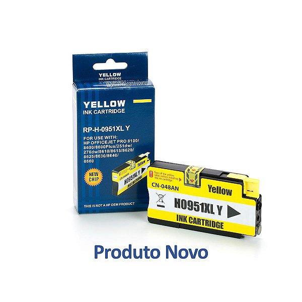 Cartucho HP 951 | HP 951XL | CN048AB Officejet Pro Amarelo Compatível 19,5ml